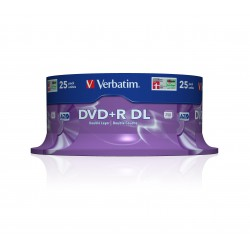 Mediji DVD+R Dual Layer 8.5GB 8x Verbatim Spindle-25 (43757)