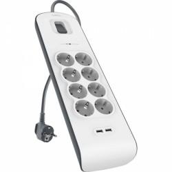 Prenapetostna zaščita Belkin 8x 220V, 2x USB, BSV804vf2M
