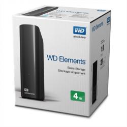 Zunanji trdi disk WD 4TB ELEMENTS DESKTOP, USB 3.0, WDBWLG0040HBK-EESN