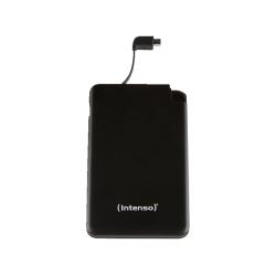Prenosna baterija INTENSO Powerbank S5000 SLIM črna, vgrajen kabel za polnjenje