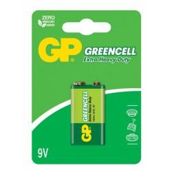 Baterija 9V GP GreenCell cink kloridna