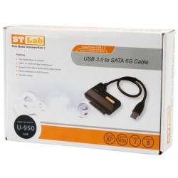 Čitalec diskov USB 3.0 SATA ST-Lab U-950