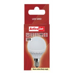 LED sijalka (žarnica) ActiveJet 5W, E14, topla svetloba (3000K)