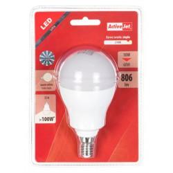 LED sijalka (žarnica) ActiveJet 10W, E14, topla svetloba (3000K)