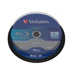 Mediji Blu-Ray Verbatim 25GB 6x White Blue Surface, Cake-10 (43742)