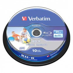 Mediji Blu-Ray Verbatim DataLife 25GB BD-R 6x Spindle-10 InkJet NO ID (43804)