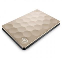 """Zunanji trdi disk 2.5"""" 1TB USB 3.0 Seagate Backup plus ultra slim, zlat"""