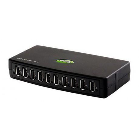 USB HUB 1x USB 2.0 na 10x USB 2.0 St-Lab U-500
