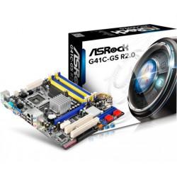 Matična plošča ASRock G41C-GS R2.0, DDR2/3, SATA2, VGA, LGA775 mATX