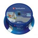 Mediji Blu-Ray Verbatim DataLife 25GB BD-R 6x Spindle-25 InkJet NO ID (43811)