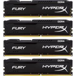 Pomnilnik DDR4 16GB (4x4GB) 2400MHz Kingston HyperX FURY black, HX424C15FBK4/16
