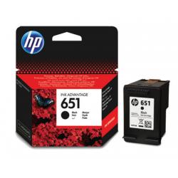 Črnilo HP C2P10AE (651), črno