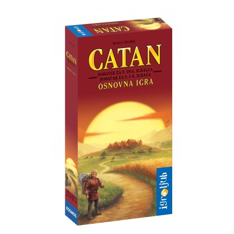 Družabna igra Catan - dodatek za 5. in 6. igralca (osnovna igra)