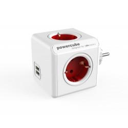 Električni razdelilec PowerCube Original USB, rdeč