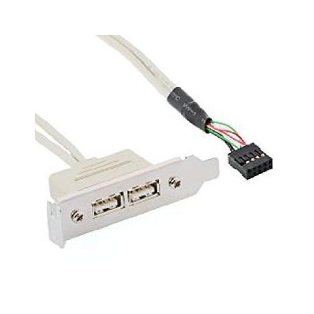 Slot adapter 2x USB, priklop na matično ploščo, Delock 83119
