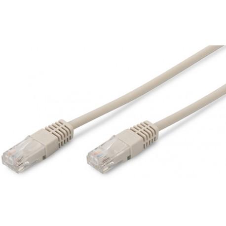 Priključni kabel za mrežo Cat5e UTP 3m siv, Digitus