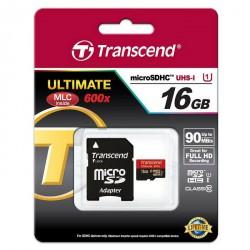 Spominska kartica micro SD 16GB 600x Transcend U1, TS16GUSDHC10U1