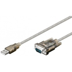 Kabel pretvornik USB na serijski port 1.5m, Goobay 95435