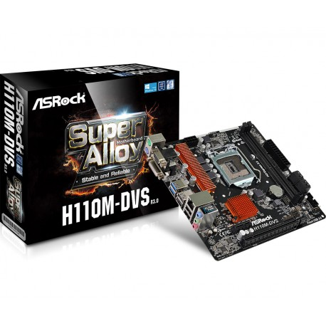 Matična plošča ASRock 1151 H110M-DVS R3.0, DDR4