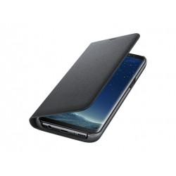 Preklopna torbica za telefon Samsung Galaxy S8 LED, črna