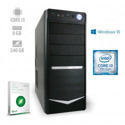 Osebni računalnik ANNI HOME Optimal / i3-7100 / SSD / W10 / CX3