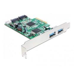 Kartica PCI Express USB 3.0 2xA + 2xSATA III, Delock