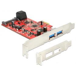 Kartica PCI Express kontroler x1 USB 3.0 2xA + 2xSATA3, Low profile, Delock